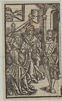 MITTELALTER kleiner Original Postinkunabel Inkunabel Holzstich um 1510 Buchdruck