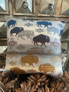 Pendleton Grey Prairie Rush Land of the Buffalo Pillow!!! NWT!!!