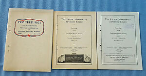 3 Vtg. 1941 Pacific Northwest Railroad Advisory Board Proceedings transportation