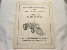 ALLIS CHALMERS MODEL 10 FARM LOADER OPERATOR MANUAL