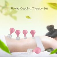 5Pcs Silicone Vacuum Body Massager Cups Anti Cellulite Lymphatic Therapy Cups