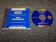 2002 Dodge Ram Van Wagon 1500 2500 3500 Shop Service Repair Manual DVD 3.9L 5.2L