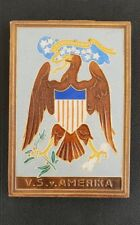 "Rare !!Utrecht westraven "" cloisonne tile"" U.S of America  ""V.S.v Amerika""."