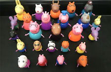 NEW 25PCS Peppa pig Family & Friends Figures toys Birthday Gift Free storage bag