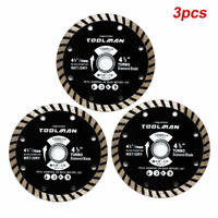 "3pc 4-1/2"" 4.5"" Circular Saw Blade Wet & Dry for DeWalt, Makita SKIL bosch Skil"