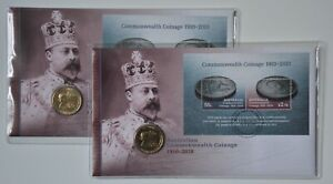 PNC 2010 Centenary of Australian Commonwealth Coinage $1 Commemorative Coin x 2