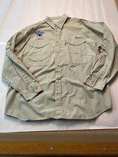 Columbia BISBEE'S BLACK & BLUE PFG Fishing L/S Shirt  Size X-Large Khaki