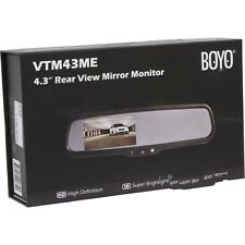 "BOYO VTM43ME 4.3"" OE Style Replacement Mirror Monitor Two video input Low $$"