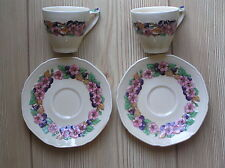 Cups & Saucers 1920-1939 (Art Deco) Crown Ducal Pottery