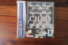 BOARD GAME CLASSICS - BACKGAMMON & CHESS & DRAUGHTS         --  GAME BOY ADVANCE