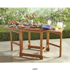 The Expandable Outdoor Table two drop leaves Forest Stewardship Acacia wood