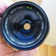 Beston MC Macro Zoom 80-205mm f/4.5 lens  for Minolta mount w case
