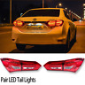 Red Clear LED Tail Lights For Toyota Corolla ZRE172 Sedan 2014 2015 2016 2017