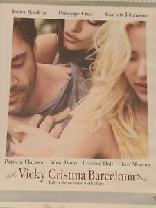 Vicky Cristina Barcelona Javier Bardem Penelope Cruz DVD Brand New