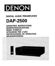 Denon DAP-2500 Preamplifier Owners Manual