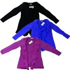 New Ladies Ruffle Stretch Long Sleeved Top, Blouse, Sizes S-XL, 3 Colours