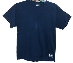 NBA Youth Size Large PJ Loungewear Top Cotton Navy Blue Short Sleeve Shirt
