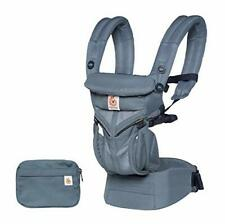 Ergobaby Omni 360 todo posiciones Baby Carrier (7-45 libras), Oxford Azul