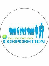 90 PRE-CUT EDIBLE WAFER CUP CAKE TOPPERS COMPANY LOGO IMAGE CORPORATE EVENT