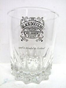 "Black Douglas Scotch Whisky Glass vgc (3 5/8"" x 3"") - aged & blended in Scotland"