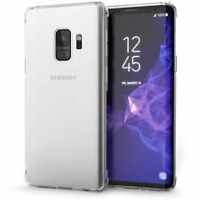 For Samsung Galaxy S9 Case 360 Shockproof Silicone Clear transparent Gel Cover
