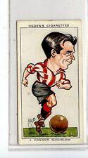 (Jd5361) OGDENS,FOOTBALL CARICATURES,J.CONNER,SUNDERLAND,1935,#20