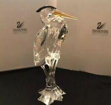 Mint In Box Swarovski Crystal Silver Heron Retired# A 7670 Nr 000 001