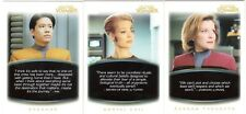 """THE """"QUOTABLE"""" STAR TREK VOYAGER COMPLETE 72-CARD SET"""