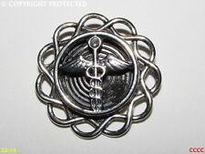 staff rod of Hermes wings steampunk brooch badge pin caduceus wand