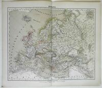 Europe Belle Epoque Germany France Austria 1874 Flemming detailed large map