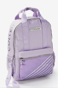 JUSTICE LILAC BACKPACK/LANYARD BE KIND/BE YOU SHIMMERING SILVER SUPER CUTE!!
