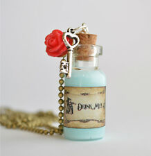 Vintage Drink Me Bottle Pendant Necklace, Alice In Wonderland Inspired