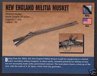 NEW ENGLAND MILITIA MUSKET RIFLE .70 A.W. Spies 1830s Gun Firearms PHOTO CARD