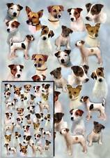 Parson/Jack Russell Terrier Wrapping Paper with small gift card by Starprint