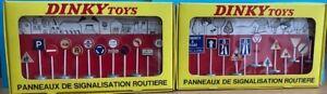 "Dinky France 592&593 Panneaux De Signalisation Routiere in Original Boxes ""Used"""