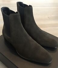 7f4a7dbb612 1,000$ Saint Laurent Brown Suede Chelsea Boots size US 14, Made in Italy