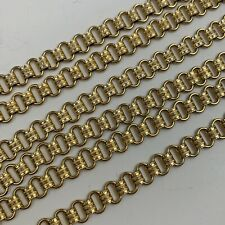 Vintage Gold Filled Book Chain Necklace Long Length Clasp Marked 1/20 12K GF