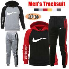 Men's Tracksuit Set 2Pcs Pullover Hoodie Trousers Bottoms Jogger Suit Sportswear