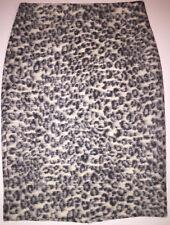 Ann Taylor Animal Print Leopard Wool Pencil Straight Skirt Lined Sz 4 NWT $89