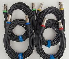 15m 10m Mikrofonkabel XLR DMX-Kabel Set 2x15m + 2x10m lang OFC-Kupfer Kabelklett