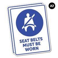 Seat Belts Must Be Worn Sticker Decal Safety Sign Car Vinyl #5521K