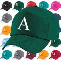 Personalisation Baseball Cap Letter Hat Girls Boys Children Kids Summer BGreen