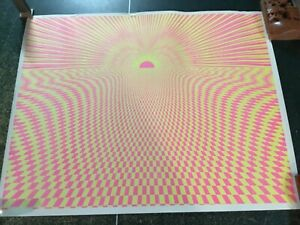 "Vintage 1974 Psychedelic ""SUNSET"" Blacklight Poster, POSTER ORIG, HOLLYWOOD, CA"