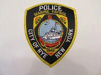 New York Rye City Police Marine Patrol Patch