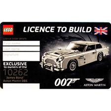 NEW Lego License To Build 10262 James Bond 007 Aston Martin DB5 Card