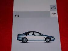 VOLVO S40 2.0T 1.6 1.8 2.0 1.8i D 1.9D Prospekt von 2004