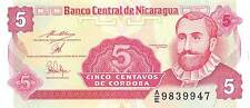 Nicaragua 5 Centavos ND. 1991 Prefix A/E Uncirculated Banknote