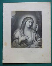 "1850 CIRCA ""MADDALENA"" INCISIONE SU ACCIAIO ORIGINALE."