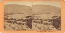 Naplouse Mont Ebal Terre Sainte Religion Stereo J. Andrieu Albumine c1870