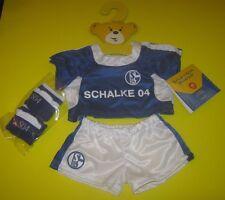 NEU Build-a-bear Schalke Deutschland exklusive Fussball Outfit Set mit Socken Deutsch